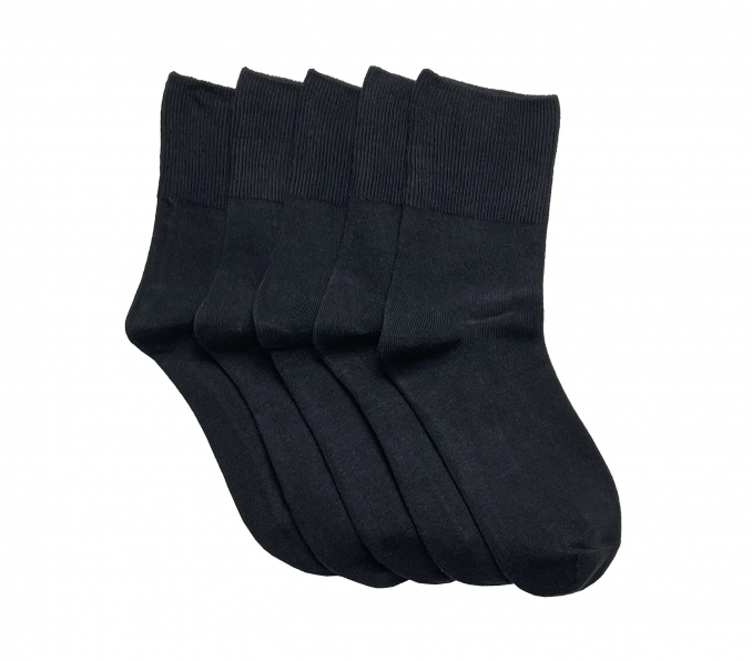 """""""Total black"""" Collection (5 pairs) Women Socks"""