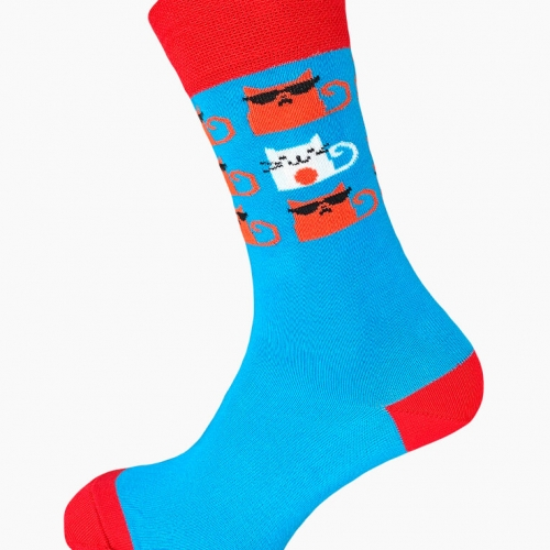 "Premium Cotton Socks ""Cool Cat"""