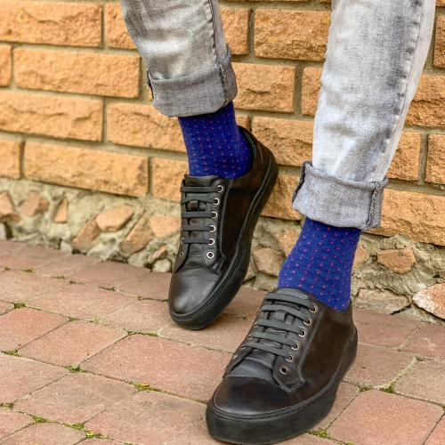 "Man socks  Collection ""Blue Dots"""