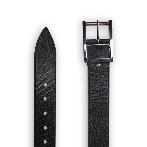 "Black leather belt  ""Liam"""