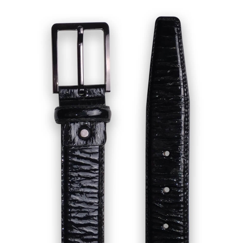 "Black leather belt  ""Alexander """